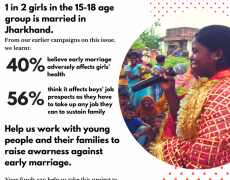 Encourage communities to end early marriage with Breakthrough